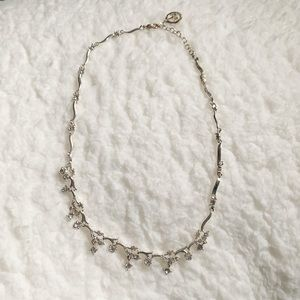 Trifari Silver Sparkle Crystal Necklace
